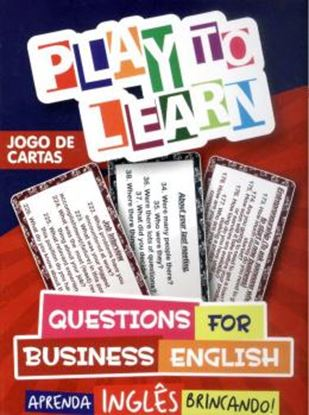 Imagem de PLAY TO LEARN - JOGO DE CARTAS - QUESTIONS FOR BUSINESS ENGLISH