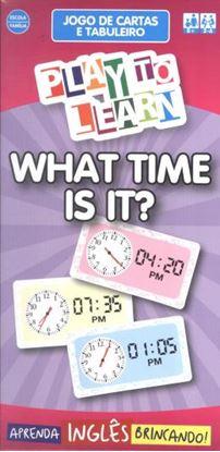 Imagem de PLAY TO LEARN - JOGO DE CARTAS - WHAT TIME IS IT?